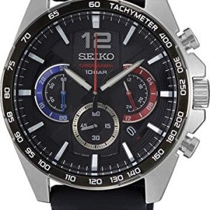 Seiko Men's Quartz Watch, Analog Display and Rubber Strap SSB347P1
