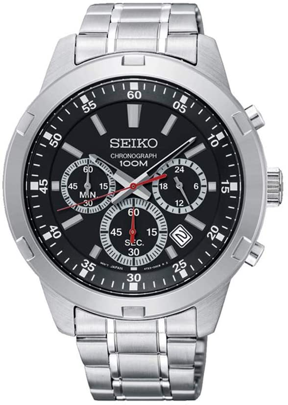 Seiko Men's Silver Dial Stainless Steel Band Watch - SKS605P1