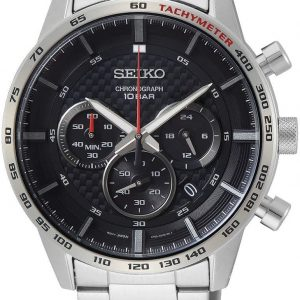 Seiko Men's Quartz Watch, Analog Display and Stainless Steel Strap SSB355P1
